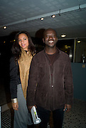 DAVID ADJAYE; ABIGAIL MOOKIEN, Celebrate the second guest editors issue. Pre-launch of  Paramount at Centrepoint.London 16 September 2008. *** Local Caption *** -DO NOT ARCHIVE-© Copyright Photograph by Dafydd Jones. 248 Clapham Rd. London SW9 0PZ. Tel 0207 820 0771. www.dafjones.com.