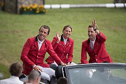 Team Belgium, Wathelet gregory, Catherine Van Roosbroeck, Devos Pieter<br /> CHIO Aachen 2017<br /> © Hippo Foto - Dirk Caremans<br /> 20/07/2017