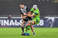 Ospreys' Nicky Smith is tackled by Northampton Saints' Michael Paterson<br /> <br /> Photographer Craig Thomas/Replay Images<br /> <br /> EPCR Champions Cup Round 4 - Ospreys v Northampton Saints - Sunday 17th December 2017 - Parc y Scarlets - Llanelli<br /> <br /> World Copyright &copy; 2017 Replay Images. All rights reserved. info@replayimages.co.uk - www.replayimages.co.uk