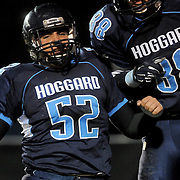 Hoggard's Kris Sciales, left, and Hunter Louthan celebrate a touchdown Friday November 21, 2014 at Hoggard High School in Wilmington, N.C. (Jason A. Frizzelle)