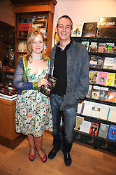 Writer CHARLOTTE EAGAR and STEPHEN MACSEARRAIGH at a party to celebrate the publication of Charlotte Eagar's book'The Girl in the Film'held at the Daunt Bookshop, Holland Park Avenue, London on 10th July 2008.NON EXCLUSIVE - WORLD RIGHTS