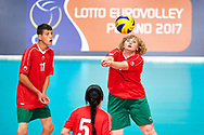 Katowice, Poland - 2017 September 02: Partner Alena Kipel from SO Belarus passes the ball while SO Germany versus SO Belarus during European Unified Volleyball Tournament 2017 at Spodek Hall on September 02, 2017 in Katowice, Poland.<br /> <br /> Adam Nurkiewicz declares that he has no rights to the image of people at the photographs of his authorship.<br /> <br /> Picture also available in RAW (NEF) or TIFF format on special request.<br /> <br /> Any editorial, commercial or promotional use requires written permission from the author of image.<br /> <br /> Image can be used in the press when the method of use and the signature does not hurt people on the picture.<br /> <br /> Mandatory credit:<br /> Photo by © Adam Nurkiewicz / Mediasport
