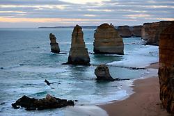 AUSTRALIA VICTORIA GREAT OCEAN ROAD 10FEB08 - View of the Twelve Apostles during sunset, one of Australia's famous landmarks, Victoria, Australia...jre/Photo by Jiri Rezac..© Jiri Rezac 2008..Contact: +44 (0) 7050 110 417.Mobile:  +44 (0) 7801 337 683.Office:  +44 (0) 20 8968 9635..Email:   jiri@jirirezac.com.Web:    www.jirirezac.com..© All images Jiri Rezac 2007 - All rights reserved.