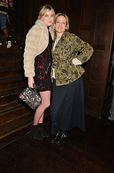 Left to right, SOPHIE DAHL and BAY GARNETT at the Universal Bacardi Brits' After Party At Soho House Pop-Up, 8 Victoria Embankment, London on 19th February 2014.