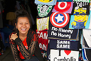 "Phnom Penh, Cambodia. Central Market. ""No Money, No Honey!"""