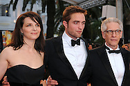"Cannes, 25.05.2012: JULIET BINOCHE, ROBERT PATTINSON AND DAVID CRONENBERG.attend the 'Cosmopolis' premiere during the 65th Annual Cannes Film Festival at Palais des Festivals, Cannes, France..Mandatory Credit Photos: ©Loic Thebaud-Photofile/NEWSPIX INTERNATIONAL..**ALL FEES PAYABLE TO: ""NEWSPIX INTERNATIONAL""**..PHOTO CREDIT MANDATORY!!: NEWSPIX INTERNATIONAL(Failure to credit will incur a surcharge of 100% of reproduction fees)..IMMEDIATE CONFIRMATION OF USAGE REQUIRED:.Newspix International, 31 Chinnery Hill, Bishop's Stortford, ENGLAND CM23 3PS.Tel:+441279 324672  ; Fax: +441279656877.Mobile:  0777568 1153.e-mail: info@newspixinternational.co.uk"