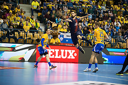 Luka Stepancic during handball match between RK Celje Pivovarna Lasko (SLO) and Paris Saint-Germain HB (FRA) in VELUX EHF Champions League 2018/19, on February 24, 2019 in Arena Zlatorog, Celje, Slovenia. Photo by Peter Podobnik / Sportida