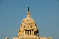 Washington DC; USA: The dome of the Capitol Building, legislative branch of the US government, in golden afternoon light.Photo copyright Lee Foster Photo # 3-washdc83072