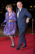 UTRECHT - Princess Margriet and Pieter van Vollenhoven arrive in Utrecht Dutch royal family attend the 75th birthday anniversary of Pieter van Vollenhoven and the 25th jubilee of the Fonds Slachtofferhulp (Victim Fund) in Utrecht. COPYRIGHT ROBIN UTRECHT