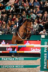 MÖLLER JÖrg (GER), Lion Cor<br /> Leipzig - Partner Pferd 2019<br /> Longines FEI Jumping World Cup<br /> Qualifikation CSI-W<br /> 18. Januar 2019<br /> © www.sportfotos-lafrentz.de/Stefan Lafrentz