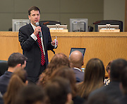 Houston ISD chief school support officer Andrew Houlihan addresses a school leadership meeting, October 2, 2013.