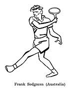 Sorry, No Croquet ; Wimbledon tennis<br /> Frank Sedgman ( Australia )
