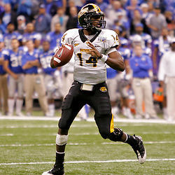 Dec 20, 2009; New Orleans, LA, USA; Southern Miss Golden Eagles quarterback Martevious Young (14) looks to throw during the second half of the 2009 New Orleans Bowl at the Louisiana Superdome. Middle Tennessee State defeated Southern Miss 42-32. Mandatory Credit: Derick E. Hingle-US PRESSWIRE