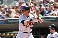 Chris Herrmann #12 of the Minnesota Twins waits on-deck circle during a game against the Seattle Mariners on June 2, 2013 at Target Field in Minneapolis, Minnesota.  The Twins defeated the Mariners 10 to 0.  Photo: Ben Krause