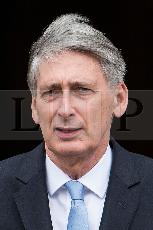 © Licensed to London News Pictures. 04/10/2017. Manchester, UK. Chancellor Philip hammond at Conservative Party Conference. The four day event is expected to focus heavily on Brexit, with the British prime minister hoping to dampen rumours of a leadership challenge. Photo credit: Ben Cawthra/LNP
