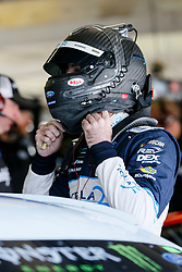 November 3, 2018 - Fort Worth, TX, U.S. - FORT WORTH, TX - NOVEMBER 03: Monster Energy NASCAR Cup Series driver Ryan Blaney (12) puts his helmet on during practice for the AAA Texas 500 at the Texas Motor Speedway in Fort Worth, Texas. (Photo by Matthew Pearce/Icon Sportswire) (Credit Image: © Matthew Pearce/Icon SMI via ZUMA Press)