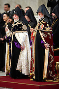 Vatican City apr 12th 2015, mass in memory of the armenian genocide. In the picture Karekin II, Catholicos of all the Armenians, and Aram I, Catholicos of Cilicia of the Armenian Apostolic Church - © PIERPAOLO SCAVUZZO
