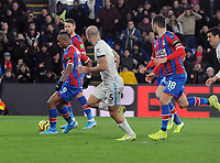 Football - 2019 / 2020 Premier League - Crystal Palace vs. West Ham United<br /> <br /> Jordan Ayew of Crystal Palace scores the winning goal, at Selhurst Park.<br /> <br /> COLORSPORT/ANDREW COWIE