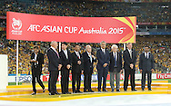 The presentation after the AFC Asian Cup match at Stadium Australia, Sydney<br /> Picture by Steven Gibson/Focus Images Ltd +61 413 768835<br /> 31/01/2015