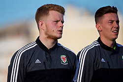 AUBAGNE, FRANCE - Tuesday, May 30, 2017: Wales' goalkeeper Luke Pilling and Cameron Coxe line-up before the Toulon Tournament Group B match between Wales and France at the Stade de Lattre-de-Tassigny. (Pic by Laura Malkin/Propaganda)