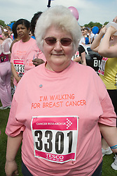 Woman competing in 2006 Cancer Research UK Race for Life; Nottingham,