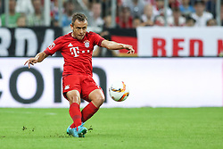 04.08.2015, Allianz Arena, Muenchen, GER, AUDI CUP, Real Madrid vs Tottenham Hotspur, im Bild Rafinha (FC Bayern Muenchen #13) // during the 2015 AUDI Cup Match between Real Madrid CF and Tottenham Hotspur at the Allianz Arena in Muenchen, Germany on 2015/08/04. EXPA Pictures © 2015, PhotoCredit: EXPA/ Eibner-Pressefoto/ Schüler<br /> <br /> *****ATTENTION - OUT of GER*****