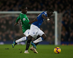 Yves Bissouma of Brighton and Hove Albion (L) and Idrissa Gueye of Everton in action - Mandatory by-line: Jack Phillips/JMP - 03/11/2018 - FOOTBALL - Goodison Park - Liverpool, England - Everton v Brighton and Hove Albion - English Premier League