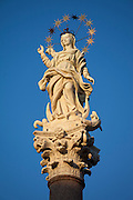 Statue of the Madonna Della Stellario in Lucca, Italy