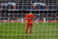 14.02.2015, Estadio Santiago Bernabeu, Madrid, ESP, Primera Division, Real Madrid vs Deportivo La Coruna, 23. Runde, im Bild Real Madrid&acute;s Iker Casillas // during the Spanish Primera Division 23rd round match between Real Madrid vs Deportivo La Coruna at the Estadio Santiago Bernabeu in Madrid, Spain on 2015/02/14. EXPA Pictures &copy; 2015, PhotoCredit: EXPA/ Alterphotos/ Victor Blanco<br /> <br /> *****ATTENTION - OUT of ESP, SUI*****
