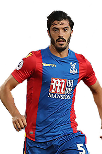 LONDON, ENGLAND - AUGUST 23:  James Tomkins of Crystal Palace in action during the EFL Cup Second Round match between Crystal Palace and Blackpool at Selhurst Park on August 23, 2016 in London, England.  (Photo by Christopher Lee/Getty Images)