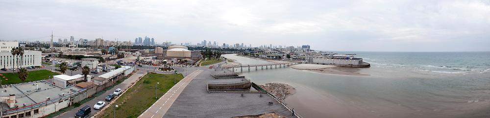 Tel Aviv Panorama as seen from Yarkon river looking south
