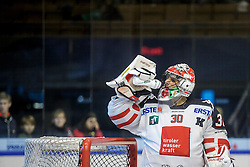 26.10.2015, Eisstadion Liebenau, Graz, AUT, EBEL, Moser Medical Graz 99ers vs HC TWK Innsbruck, 16. Runde, im Bild Andy Chiodo (HC TWK Innsbruck) // during the Erste Bank Icehockey League 16th Round match between Moser Medical Graz 99ers and HC TWK Innsbruck at the Ice Stadium Liebenau, Graz, Austria on 2015/10/26, EXPA Pictures © 2015, PhotoCredit: EXPA/ Erwin Scheriau
