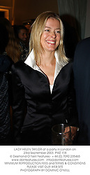 LADY HELEN TAYLOR at a party in London on 23rd September 2003.PMZ 118