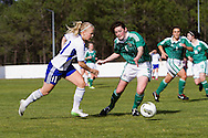 Tocha,Portugal, 9th April 2013 - European Women`s Under 19 - Northern Ireland  v Finland - Adelina Engman (L) (Finland) and Alana Mcshane (R) (Northern Ireland)