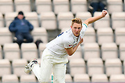 Jamie Porter of Essex bowling during the second day of play in the Specsavers County Champ Div 1 match between Hampshire County Cricket Club and Essex County Cricket Club at the Ageas Bowl, Southampton, United Kingdom on 28 April 2018. Picture by Graham Hunt.