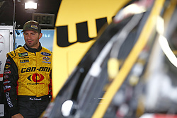 October 5, 2018 - Dover, Delaware, United States of America - Matt DiBenedetto (32) hangs out in the garage during practice for the Gander Outdoors 400 at Dover International Speedway in Dover, Delaware. (Credit Image: © Justin R. Noe Asp Inc/ASP via ZUMA Wire)