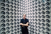 """VENICE, ITALY..June 1993..45th Biennale of Venice.French Pavillion..Jean-Pierre Raynaud in front of """"Espace Raynaud"""" 1993..(Photo by Heimo Aga)"""