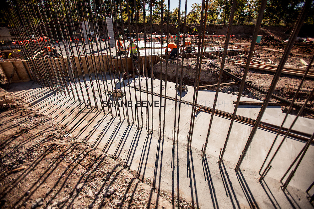9/30/16 10:03:49 AM -- Lodge construction update. Mist Mountain Foundations, Peggy's Pond Rock install. <br /> <br /> Photo by Shane Bevel