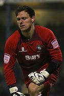 Picture by David Horn/Focus Images Ltd +44 7545 970036.11/12/2012.Trevor Carson of Bury during the penalty shoot out in The FA Cup match at Roots Hall, Southend.