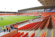 General view inside Bloomfield Road during the EFL Sky Bet League 1 match between Blackpool and Portsmouth at Bloomfield Road, Blackpool, England on 31 August 2019.