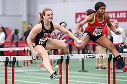 womens 60 meters hurdle, heat 1, Rutgers<br /> BU John Terrier Classic <br /> Indoor Track & Field Meet