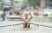 Henley. United Kingdom.   EST M1X, Juri YANSONN, competing in the Diamond Sculls Challenge and the FISA World Cup event. Men and Women's single Sculls at the 1995 Henley Royal Regatta. Henley Reach, England.<br /> <br /> {Mandatory Credit: Peter SPURRIER/Intersport Images]
