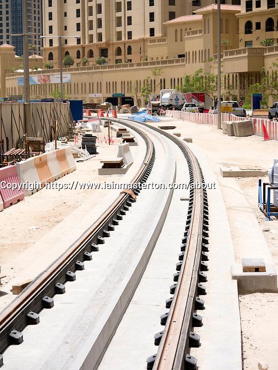 construction of new Al Sufouh tramway in Dubai United Arab Emirates