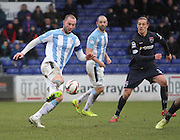 Dundee's James McPake runs at Ross County's Jackson Irvine - Ross County v Dundee, SPFL Premiership at The Global Energy Stadium<br /> <br />  - &copy; David Young - www.davidyoungphoto.co.uk - email: davidyoungphoto@gmail.com