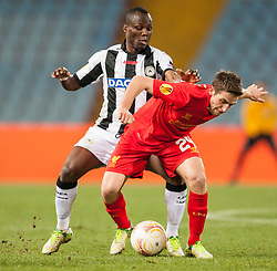 06.12.2012, Stadio Friuli, Udine, ITA, UEFA EL, Udinese Calcio vs FC Liverpool, Gruppe A, im Bild Emmanuel Agyemang (# 07, Udinese Calcio), Joe Allen (# 24, Liverpool FC) // during the UEFA Europa League group A match between Udinese Calcio and Liverpool FC at the Stadio Friuli, Udinese, Italy on 2012/12/06. EXPA Pictures © 2012, PhotoCredit: EXPA/ Juergen Feichter