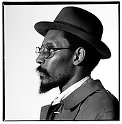 Studio photosession of Linton Kwesi Johnson - London 1991