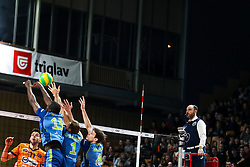 Petar Dirlic of ACH Volley vs Oreol Camejo Durruthy, Sergei Cherviakov of Zenit St. Petersburg celebrates during volleyball match between ACH Volley Ljubljana and Zenit Saint Petersburg in 4th Round Pool C of 2019 CEV Volleyball Champions League, on December 18, 2018 in Hala Tivoli, Ljubljana, Slovenia. Photo by Matic Klansek Velej / Sportida
