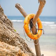 Lifesaver at beach, Xiao Liuqiu, Pingtung County, Taiwan