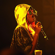 NEW YORK - JUNE 26:  M.I.A. performs onstage as part of VICE & Intel's The Creator Project at Milk Studios on June 26, 2010 in New York City.  (Photo by Roger Kisby)