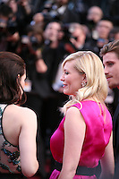 Kristen Stewart, Kirsten Dunst, Garret Hedlund, at the On The Road gala screening red carpet at the 65th Cannes Film Festival France. The film is based on the book of the same name by beat writer Jack Kerouak and directed by Walter Salles. Wednesday 23rd May 2012 in Cannes Film Festival, France.
